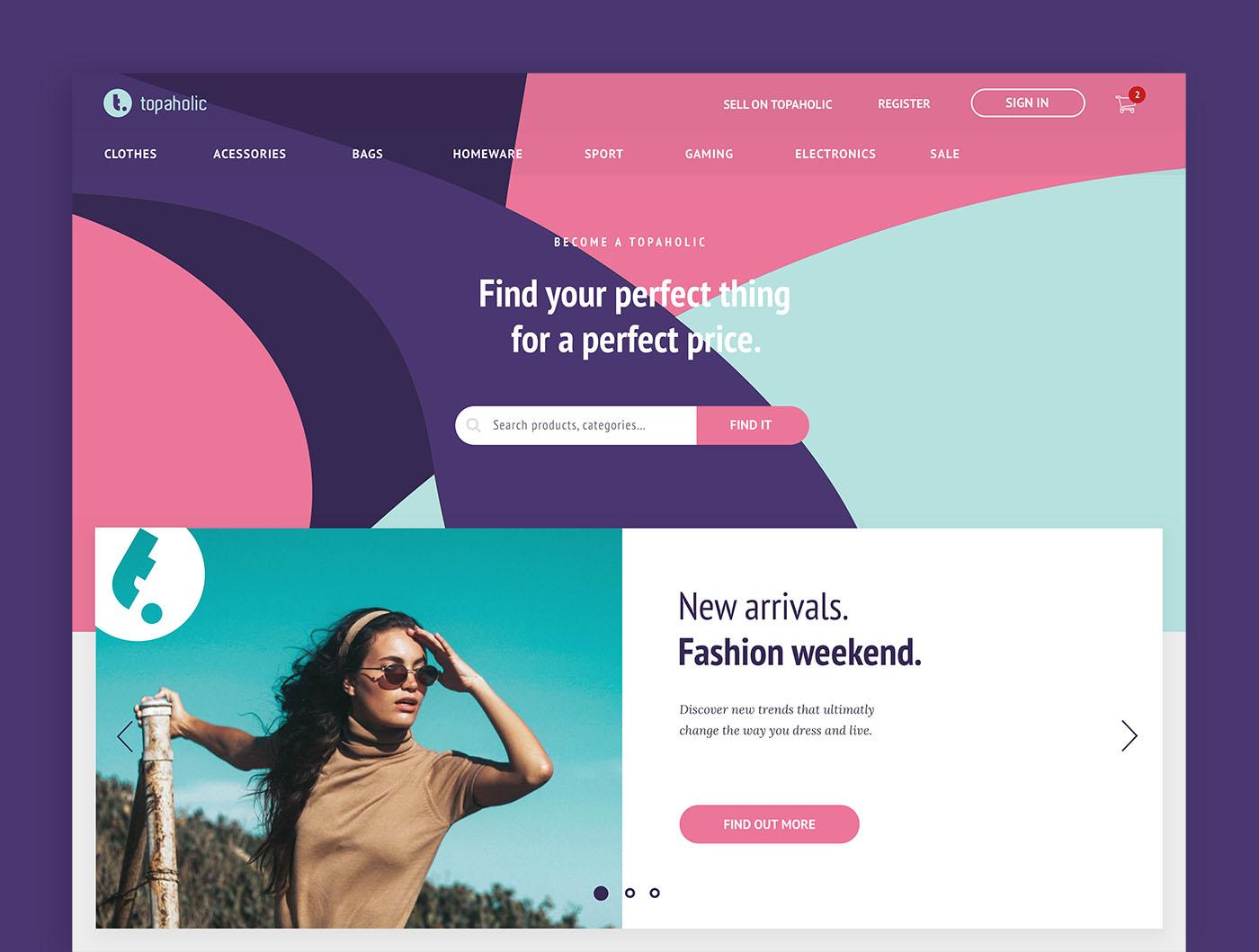 Topaholic online marketplace design
