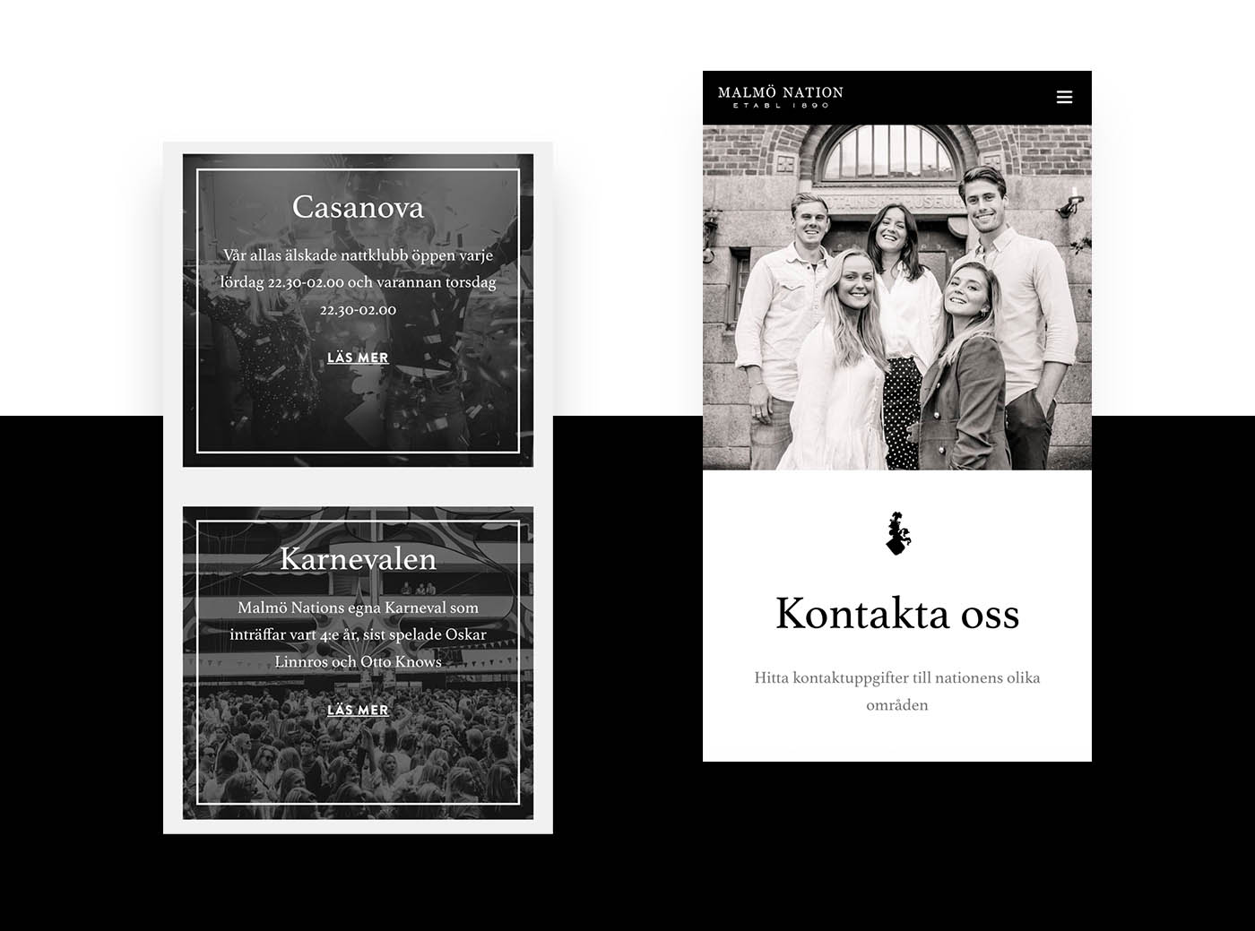 Malmö nation website design lund