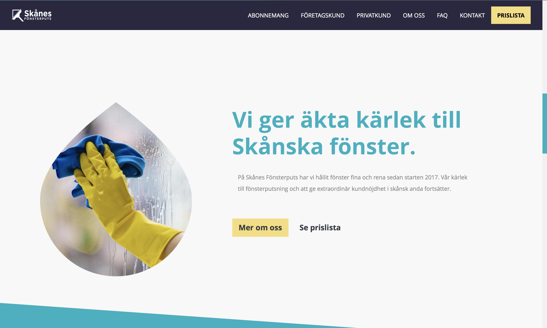 Skånes Fönsterputs webbsida städfirma