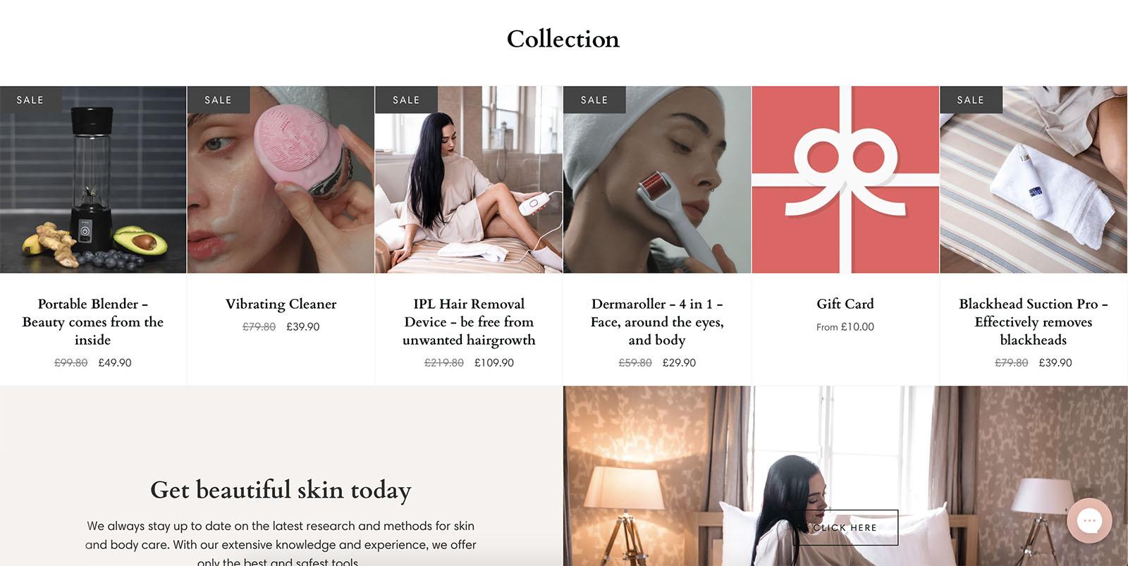 webbshop skönhet hudvård