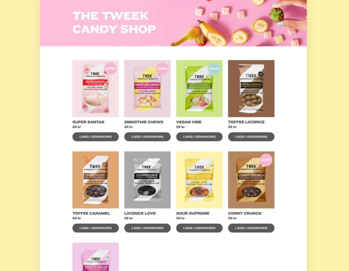 Tweek sweets godis webbutik