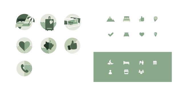 eco travel website icons