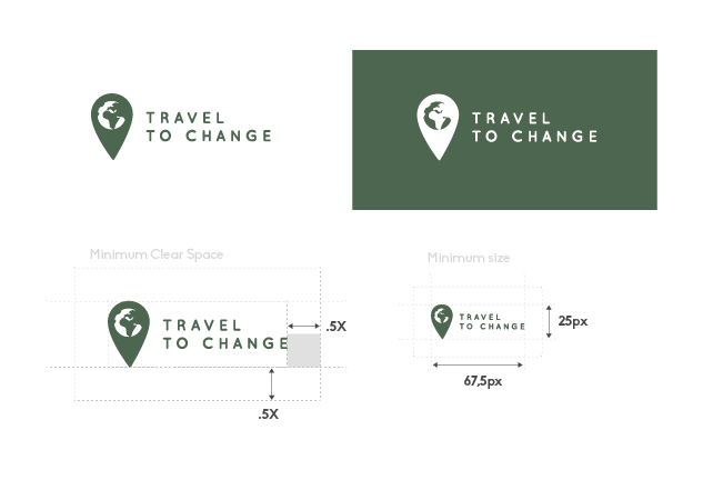 Travel website logo design