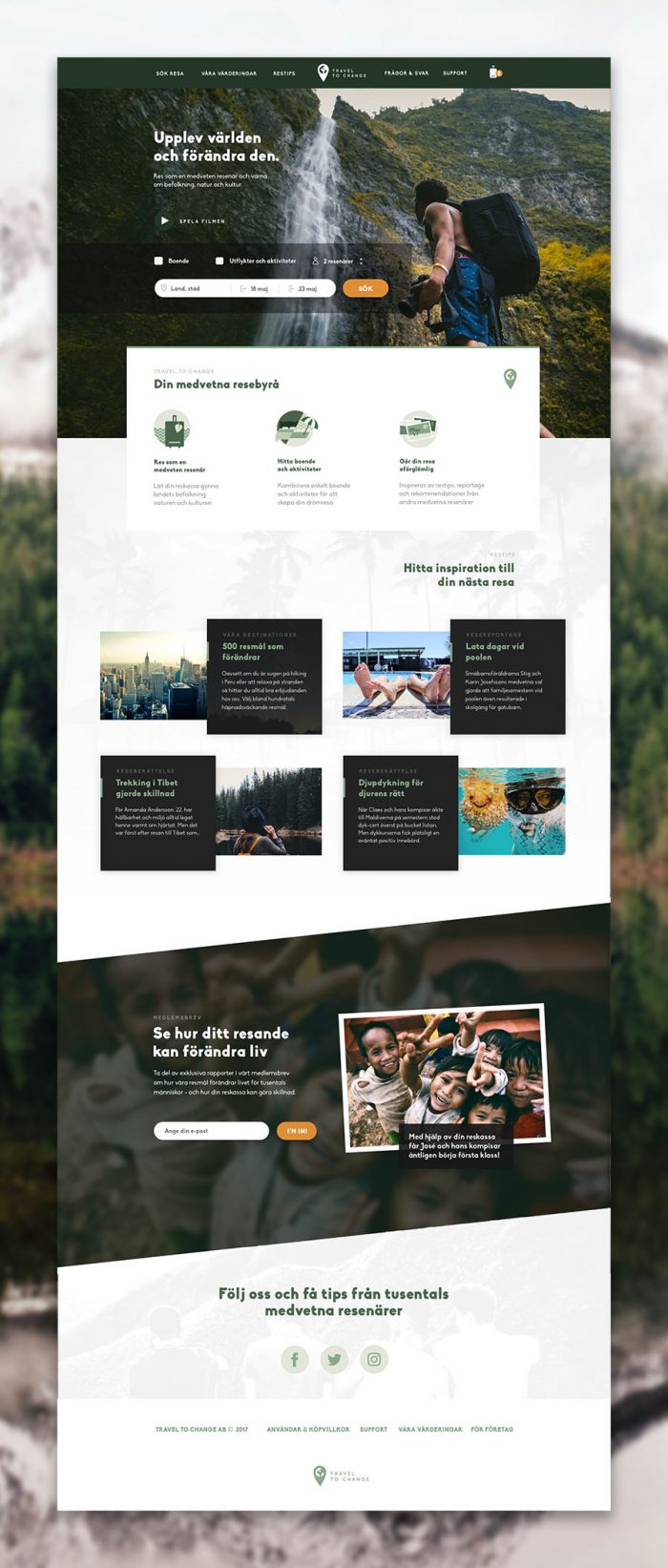 UX design eco-friendly travel website