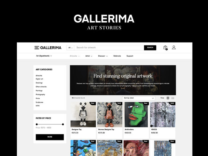 Gallerima art marketplace